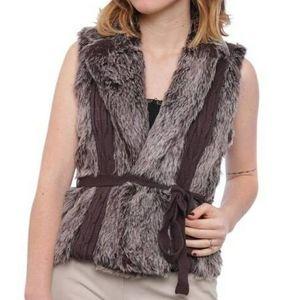XOXO Brown Faux Fur Vest